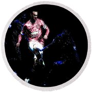 Wayne Rooney Working Magic Round Beach Towel by Brian Reaves