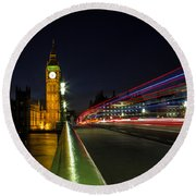 Westminster Round Beach Towel by Martin Newman