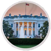 White House Round Beach Towel by Inge Johnsson