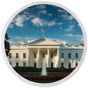 White House Sunrise Round Beach Towel by Steve Gadomski