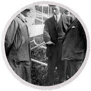 Round Beach Towel featuring the photograph Wilbur Wright, 1908 by Science Source