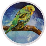 Wild Parakeet Round Beach Towel by Michael Creese