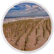Wildwood Beach Breezes  Round Beach Towel by David Dehner