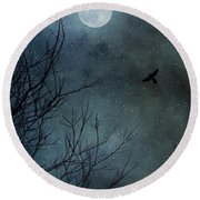 Winter's Silence Round Beach Towel by Trish Mistric