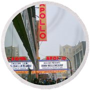 Wintry Day At The Apollo Round Beach Towel by Ed Weidman