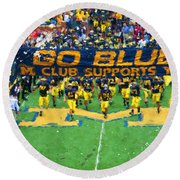 Wolverines Rebirth Round Beach Towel by John Farr
