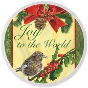 Xmas Around The World 2 Round Beach Towel by Debbie DeWitt