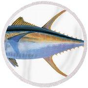 Yellowfin Tuna Round Beach Towel by Carey Chen