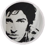 Young Boss Round Beach Towel by ID Goodall