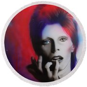 David Bowie - ' Ziggy Stardust ' Round Beach Towel by Christian Chapman