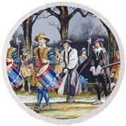 Charles I's Last Walk Round Beach Towel by Ron Embleton