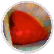 Round Beach Towel featuring the digital art Abundant Love by Richard Laeton