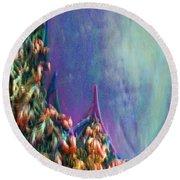 Round Beach Towel featuring the digital art Ancesters by Richard Laeton
