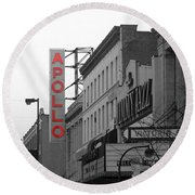 Apollo Theater In Harlem New York No.1 Round Beach Towel by Ms Judi