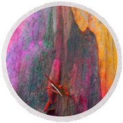 Round Beach Towel featuring the digital art Dance For The Earth by Richard Laeton