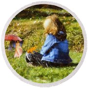 I Believe In Fairies Round Beach Towel by Nikki Marie Smith