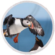 Incoming  Round Beach Towel by Bruce J Robinson
