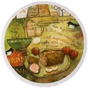 Irish Brown Bread Round Beach Towel by Jen Norton