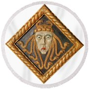 Medusa Round Beach Towel by Photo Researchers