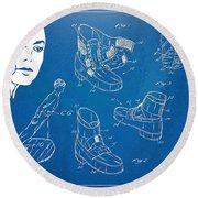 Michael Jackson Anti-gravity Shoe Patent Artwork Round Beach Towel by Nikki Marie Smith