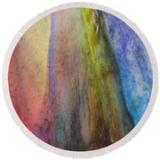 Round Beach Towel featuring the digital art Move On by Richard Laeton