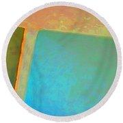 Round Beach Towel featuring the digital art My Love by Richard Laeton