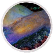 Round Beach Towel featuring the digital art Spirit's Call by Richard Laeton
