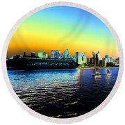 Sydney In Color Round Beach Towel by Douglas Barnard