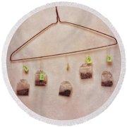 Tea Bags Round Beach Towel by Priska Wettstein