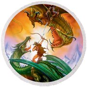 The Duel Round Beach Towel by The Dragon Chronicles