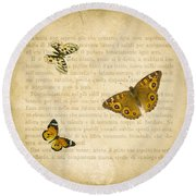 The Printed Page 1 Round Beach Towel by Jan Bickerton
