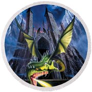 Unleashed Round Beach Towel by The Dragon Chronicles
