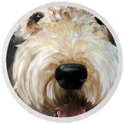 Up Close  Round Beach Towel by Mary Sparrow