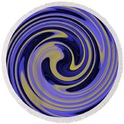 You Are Like A Hurricane Round Beach Towel by Bill Cannon