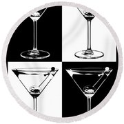 Classic Martini  Round Beach Towel by Jon Neidert