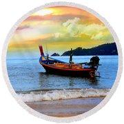 Thailand Round Beach Towel by Mark Ashkenazi