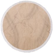 Adele Bloch Bauer Round Beach Towel by Gustav Klimt