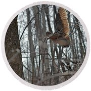 American Woodcock - Scolopax Minor Round Beach Towel by Asbed Iskedjian