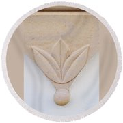 Architectural Detail No. 3 Round Beach Towel by Sandy Taylor