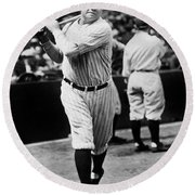 Babe Ruth Round Beach Towel by American School