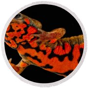 Chuxiong Fire Belly Newt Round Beach Towel by Dant� Fenolio