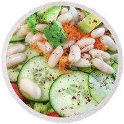 Freshly Made Salad Round Beach Towel by Tom Gowanlock