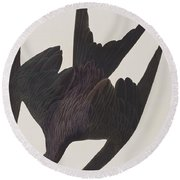 Frigate Pelican Round Beach Towel by John James Audubon