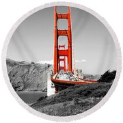 Golden Gate Round Beach Towel by Greg Fortier