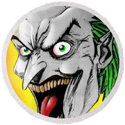 Joker Round Beach Towel by Salman Ravish