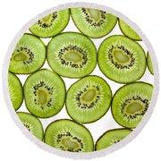 Kiwifruit Round Beach Towel by Nailia Schwarz