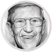 Lou Holtz Round Beach Towel by Greg Joens