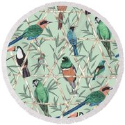 Menagerie Round Beach Towel by Jacqueline Colley