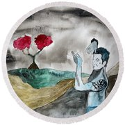 Scott Weiland - Stone Temple Pilots - Music Inspiration Series Round Beach Towel by Carol Crisafi