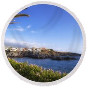 Tenerife - Alcala Round Beach Towel by Joana Kruse